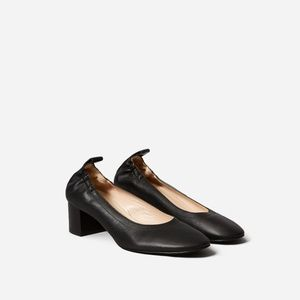 Everlane Black Italian Leather Day Heels Size 7